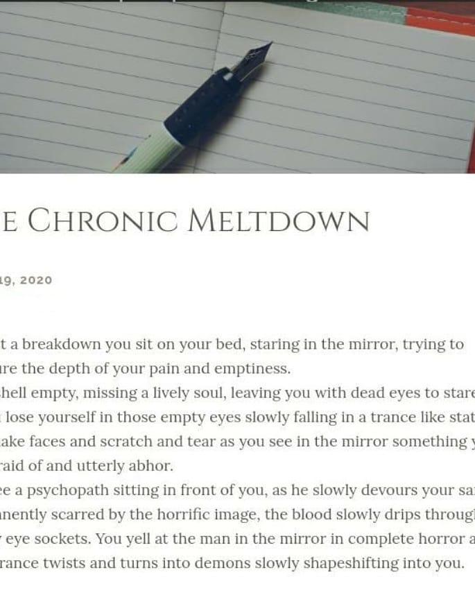 kris depression through poetry